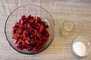 Préparation des fraises